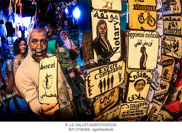 In the souk, medina, Marrakech, Morocco