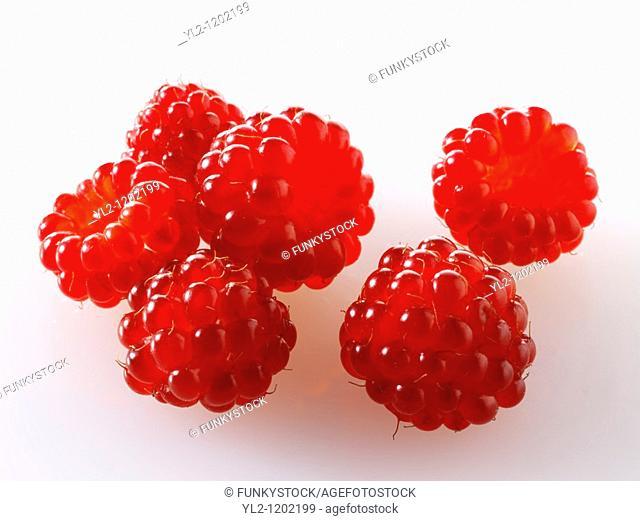 Organic Wineberry Rubus phoenicolasius - Japanese fruit