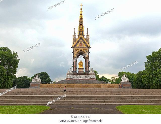 The Albert Memorial, Kensington Gardens, London, Great Britain, UK