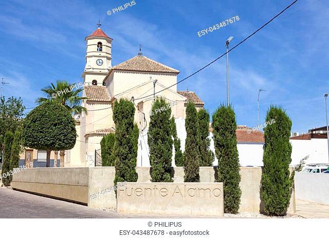 Church in historic town Fuente Alamo de Murcia, region of Murcia, Spain