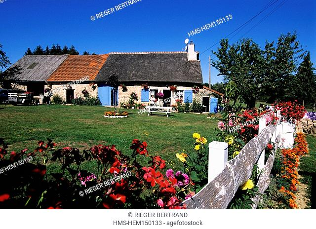 France, Yonne, Quarre les Tombes, Valtats Hamlet, a Restored Typical Farm of the Morvan Region