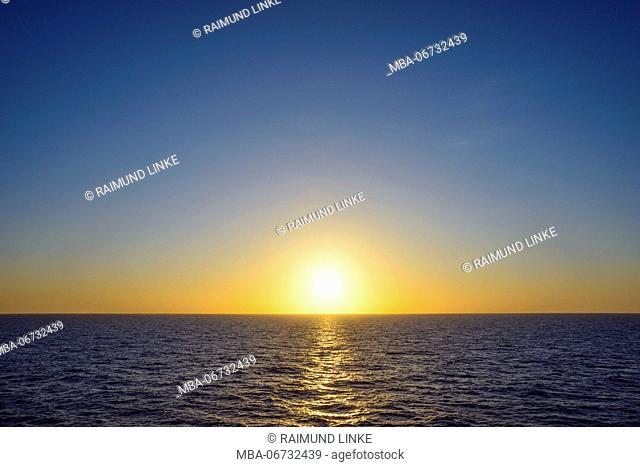 Sunrise over Sea, North Sea, Netherlands