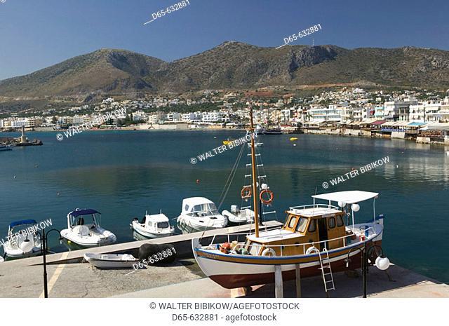 Resort view. Morning. Hersonissos. Iraklio Province. Crete, Greece