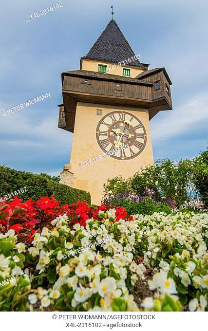 Austria, Styria, Graz, Clock Tower, Uhrturm