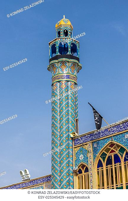 Minaret of Shrine of Hilal ibn Ali in Aran va Bidgol city, Iran