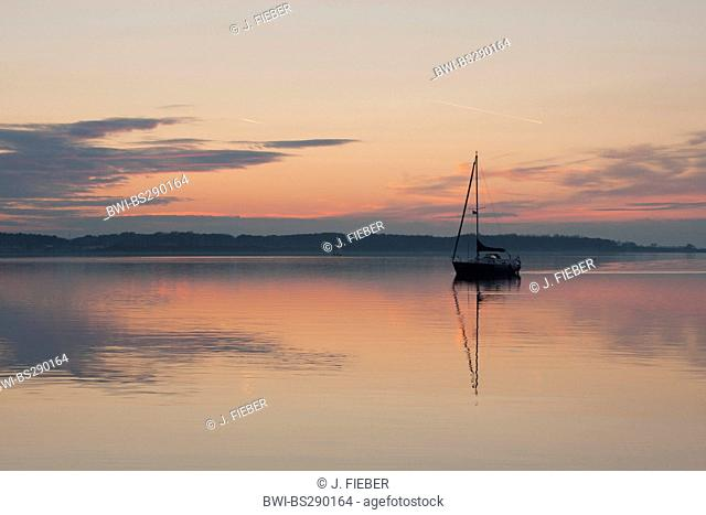 sailing boat in twilight, Netherlands, Zeeland
