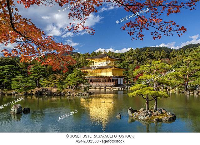 Japan , Kyoto City, The golden temple, Kinkaku-Ji