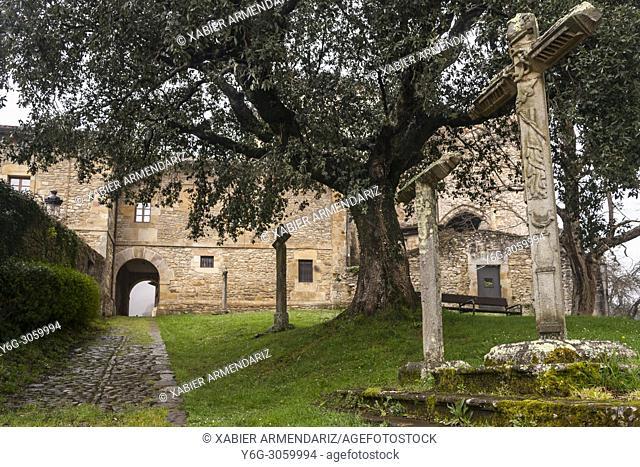 Collegiate Church of Zenarruza, on the North Santiago Road, Biscay, Basque Country, Spain
