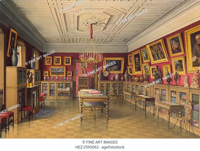 The Stroganov Palace in Saint Petersburg. Library, 1865. Found in the collection of the State Hermitage, St. Petersburg