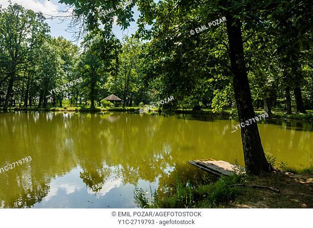 Luznica near Zapresic Zagreb in Croatia and its park with lake