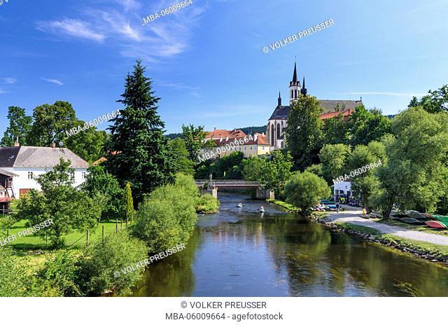 Moldavia and the Cistercian monastery, Czechia, Jihocesky kraj (South Bohemia region), Vyssí Brod (Hohenfurth)