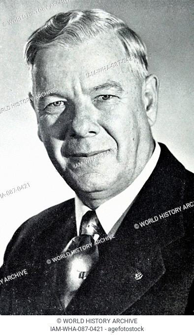 Photograph of Hendrik Verwoerd (1901-1966) former Prime Minister of South Africa. Dated 20th Century