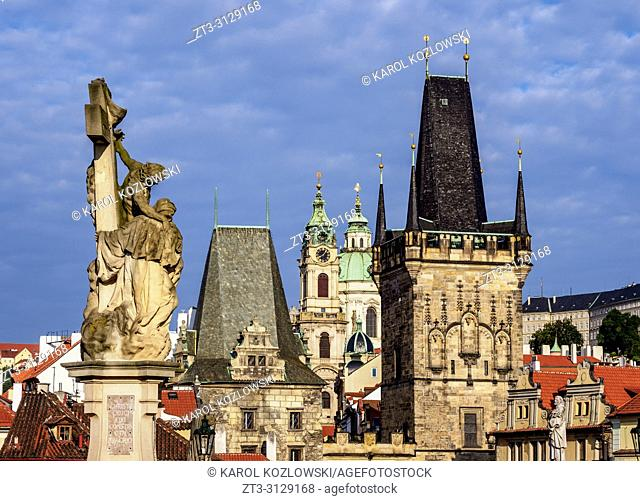 Lesser Town Bridge Tower, Charles Bridge, Mala Strana, Prague, Bohemia Region, Czech Republic