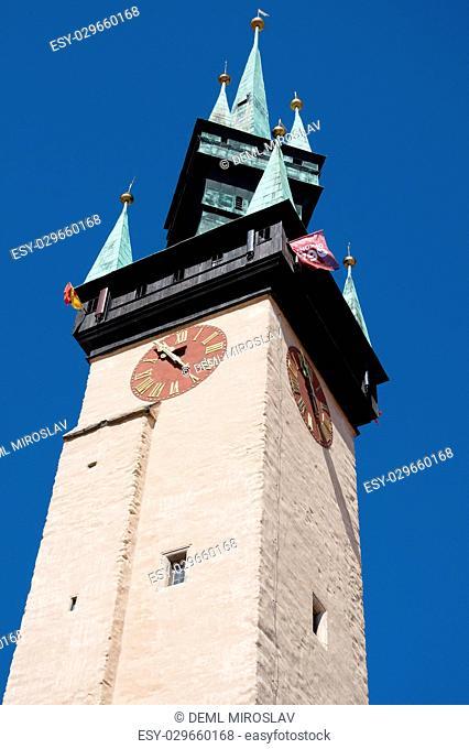 CZ, South Moravia,Znojmo,town hall tower