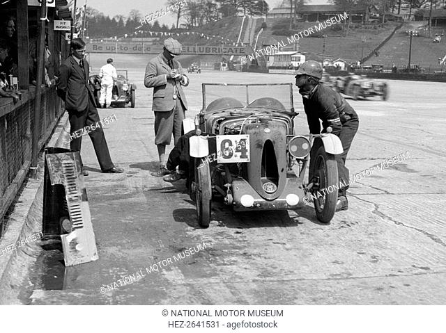 MG C type of FM Montgomery and R Hebeler at the JCC Double Twelve race, Brooklands, 8/9 May 1931. Artist: Bill Brunell