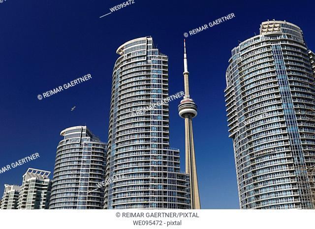 New Harbourfront Condos in Toronto with the CN tower