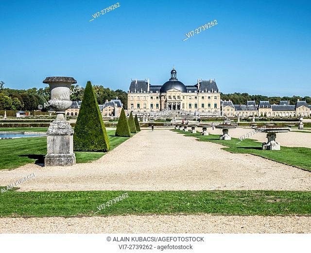Vaux-le-Vicomte's Gardens and Castle, Maincy, Seine et Marne, France