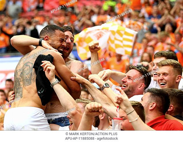 2017 League 2 Playoff Final Blackpool v Exeter May 28th. May 28th 2017, Wembley Stadium, London England; EFL League 2 Playoff Final