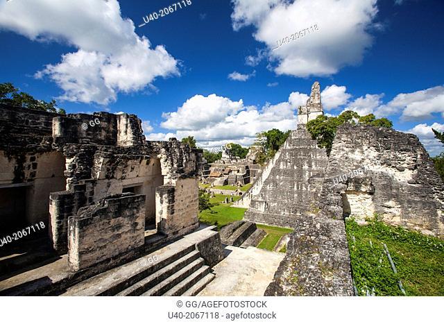 Guatemala, Tikal, Temple 1, Gran Jaguar