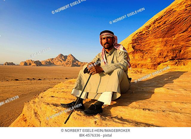 Bedouin looking at Wadi Rum, Jordan