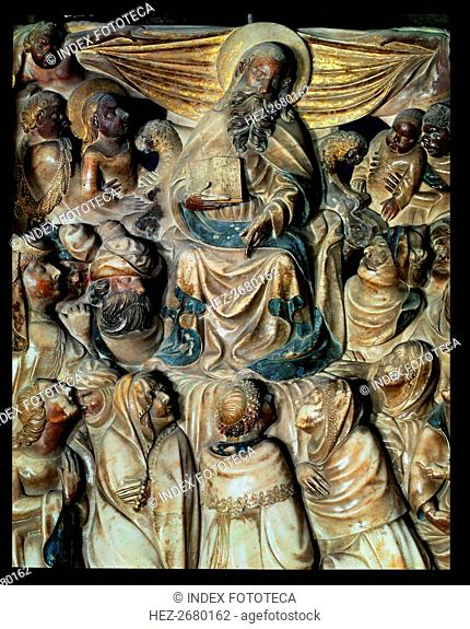 Alabaster altarpiece of the main altar or Santa Tecla altar of the Tarragona Cathedral, detail of?