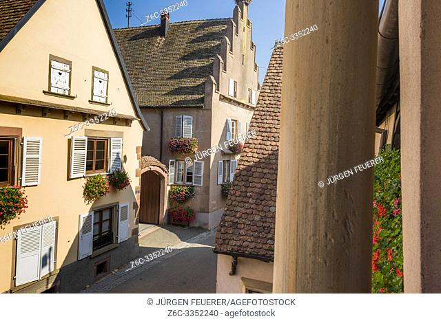 village Mittelbergheim, typical wine village at the Alsace Wine Route, member of most beautiful villages of France