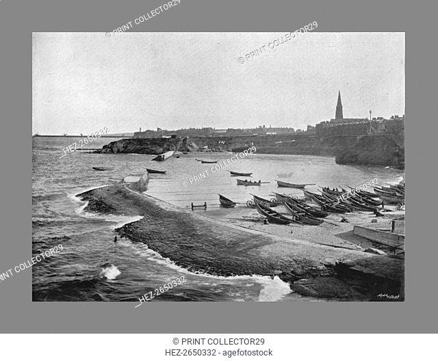 Cullercoats Bay,Tynemouth, c1900. Artist: M Aunty