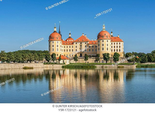 Moritzburg Castle, baroque hunting lodge from Saxonian King August the Strong near Dresden Saxony, Germany, Europe