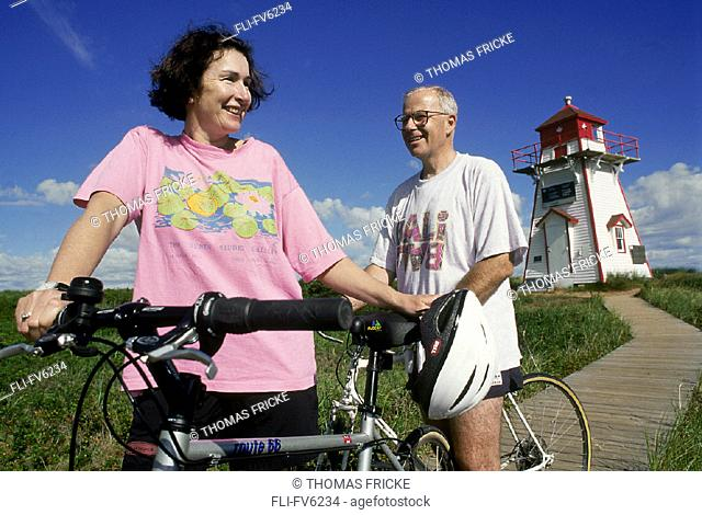 FV6234, Thomas Fricke, Couple Bicycling on Brackley Beach, PEI
