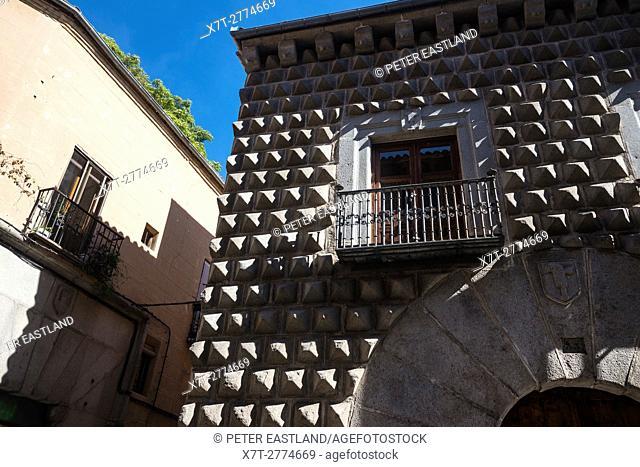 The 15th Cen. Casa De Los Picos in the city of Segovia, Spain