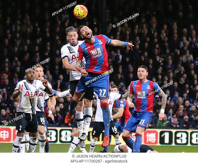 2016 Barclays Premier League Crystal Palace v Tottenham Hotspur Jan 23rd. 23.01.2016. Selhurst Park, London, England. Barclays Premier League