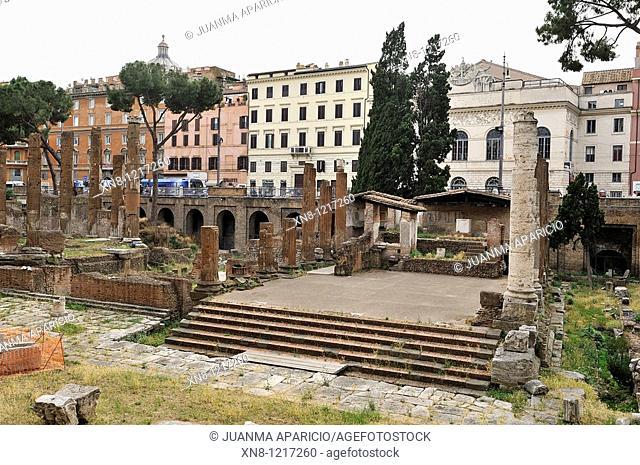 Roman ruins in Via Argentina, Rome