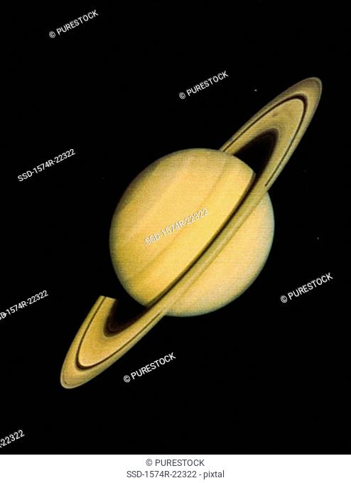 Close-up of Saturn