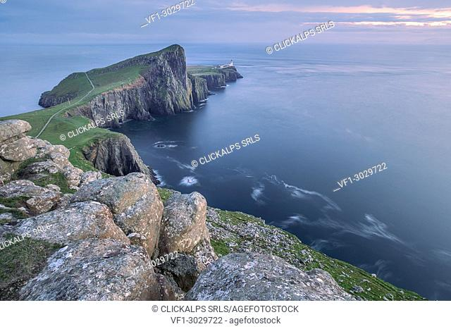 Neist Point, the most westerly point on the Isle of Skye, Inner Hebrides, Scotland