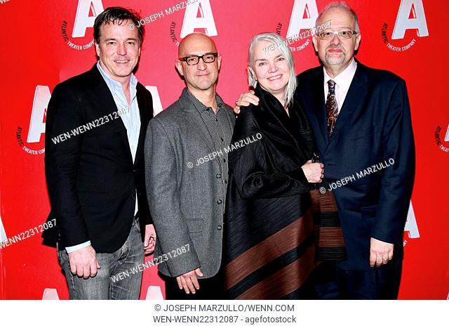 Opening night party for the Atlantic Theater Company production Posterity, held at Moran's restaurant - Arrivals. Featuring: Derek McLane, David Lander