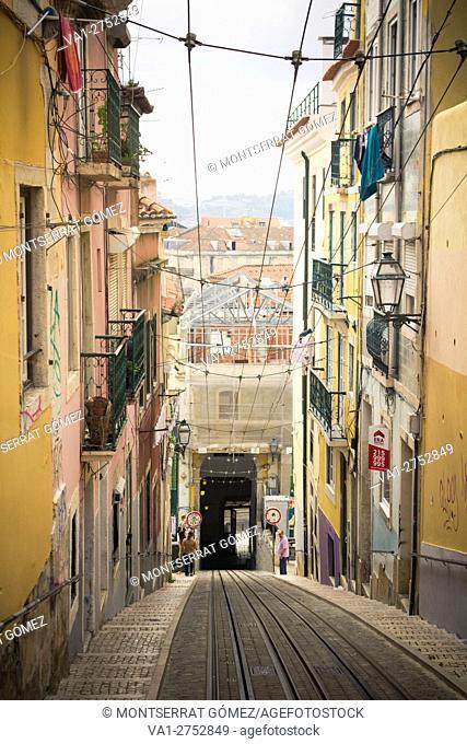 Calçada Bica Pequena at Lisbon, Portugal