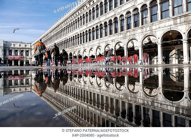 Piazza San Marco, Reflection, Vencie, Italy