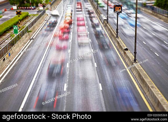 Road traffic on streets
