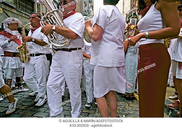 Dancers. San Fermin. Pamplona. Navarre. Spain