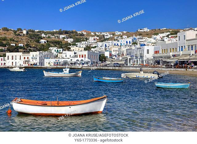 old port of Mykonos Town, Greece