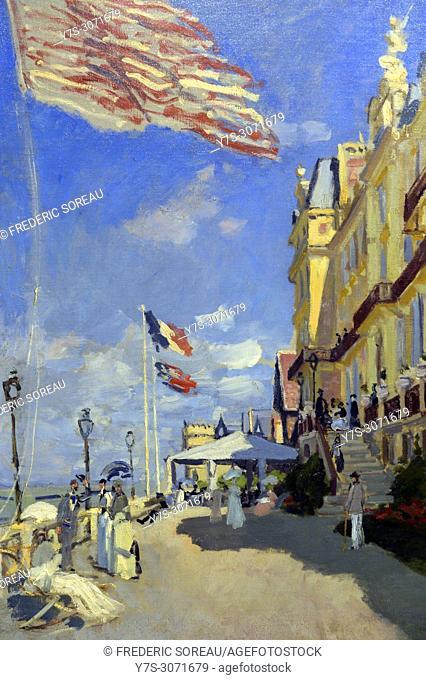 L'Hotel des Roches Noires, Trouville, 1870, by Claude Monet, Musee d'Orsay, Orsay Museum, Paris, France, Europe