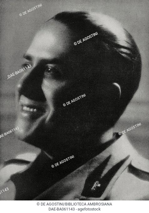 Count Gian Galeazzo Ciano (1903-1944), Minister of Foreign Affairs, Edda Mussolini's (1910-1995) husband, photo by Luxardo from the magazine L'Illustrazione...