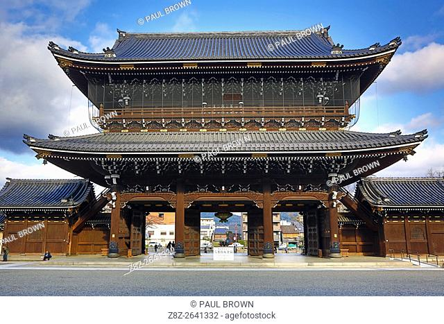 Founders Hall Gate at Higashi Honganji Temple, the Eastern Temple of the Original Vow, in Kyoto, Japan