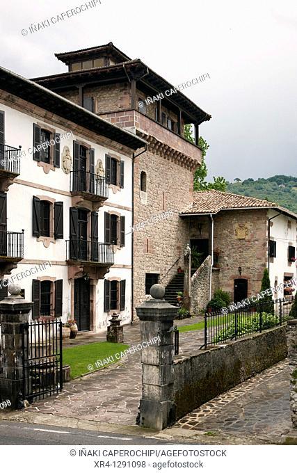 Tower House Marquis Palace, Baztan Valley, Irurita, Navarra Nafarroa, Spain España