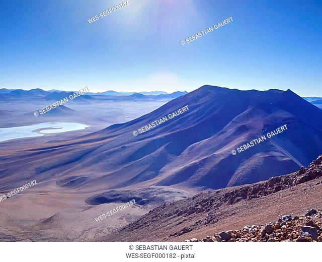 South America, Bolivia, Mountainous area at Salar de Uyuni area