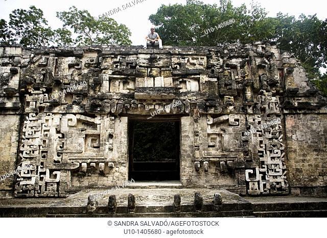 Chicanná archaeological site, Yucatan, Mexico
