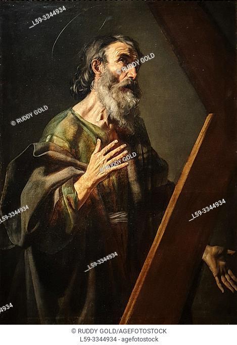 'Saint Andrew', 1616, Nicolas Tournier (1590-1639)