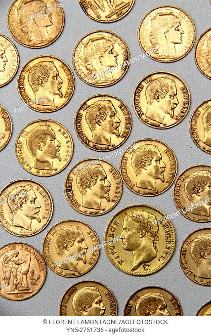 old golden french coins