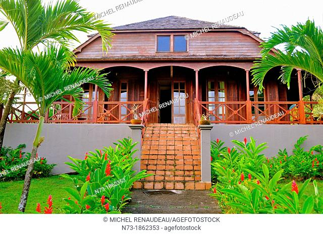 France, West Indies, Guadeloupe, Basse-Terre, Trois Rivieres, Jardin Malanga