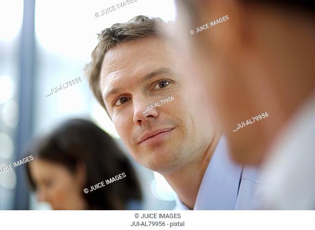 Businessman at a meeting